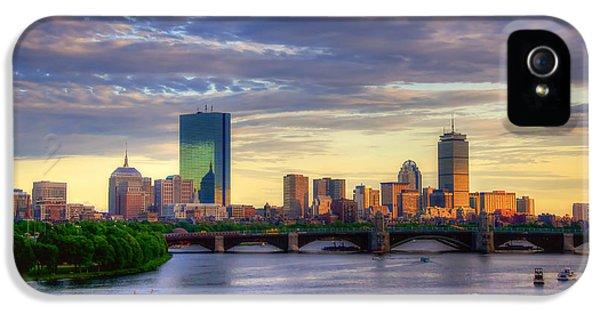 Boston Skyline Sunset Over Back Bay IPhone 5s Case by Joann Vitali