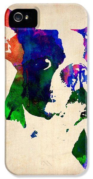 Boston Terrier Watercolor IPhone 5s Case by Naxart Studio