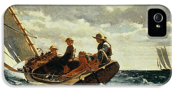 Boat iPhone 5s Case - Breezing Up by Winslow Homer