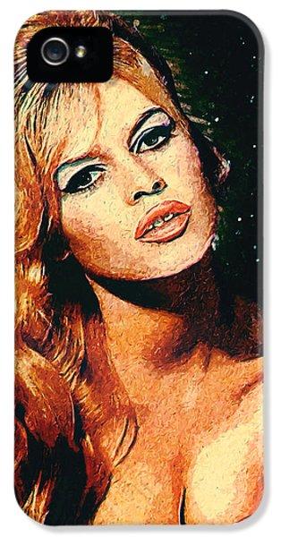 Brigitte Bardot IPhone 5s Case by Taylan Apukovska