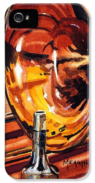 Trombone iPhone 5s Case - Brilliant Brass by Spencer Meagher