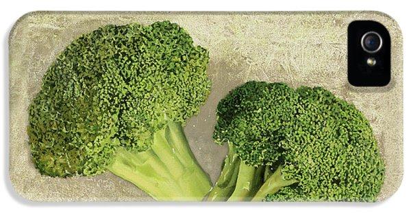 Broccoli iPhone 5s Case - Broccoli Da Orto by Guido Borelli