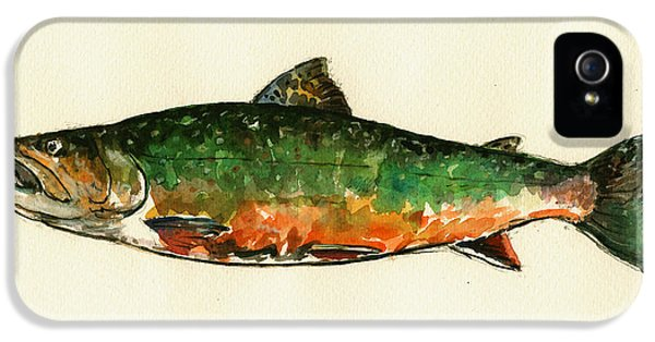 Brook Trout IPhone 5s Case by Juan  Bosco