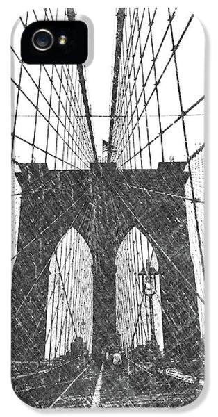 Dick Goodman iPhone 5s Case - Brooklyn Bridge by Dick Goodman