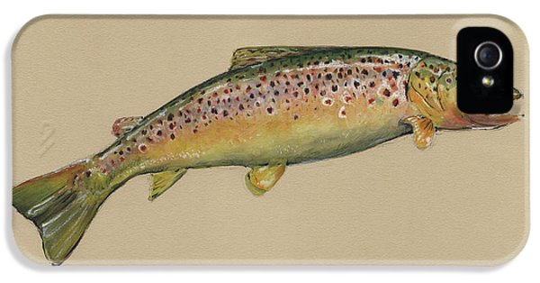 Brown Trout Jumping IPhone 5s Case by Juan Bosco