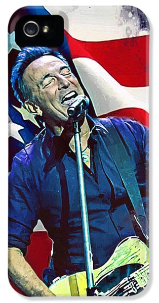 Bruce Springsteen iPhone 5s Case - Bruce Springsteen by Afterdarkness