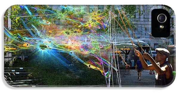 Bubble Maker Collage 1 IPhone 5s Case by Dave Beckerman