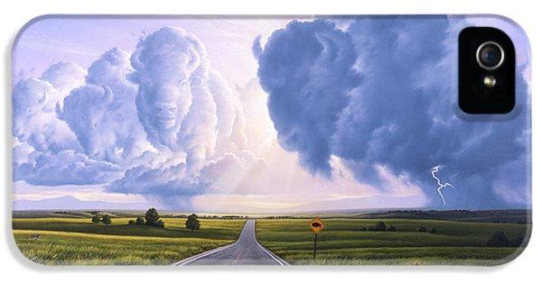 Buffalo iPhone 5s Case - Buffalo Crossing by Jerry LoFaro
