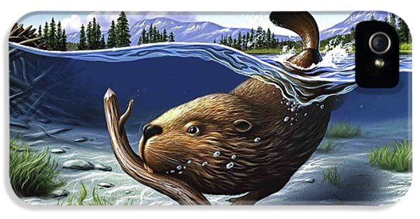 Beaver iPhone 5s Case - Busy Beaver by Jerry LoFaro