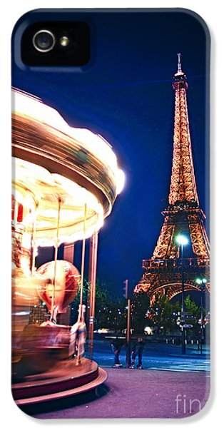 Carousel And Eiffel Tower IPhone 5s Case