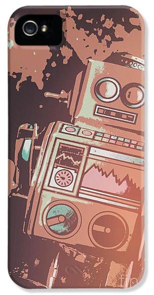 1950s iPhone 5s Case - Cartoon Cyborg Robot by Jorgo Photography - Wall Art Gallery