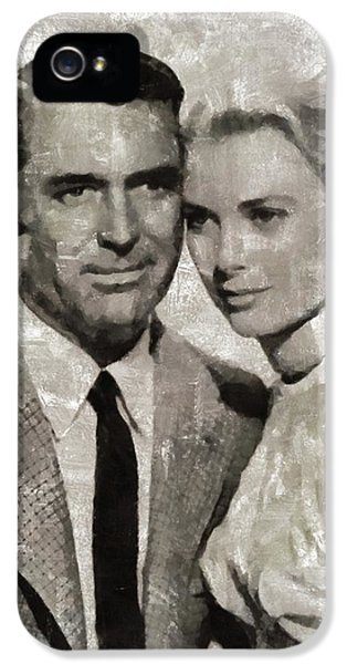 Grace Kelly iPhone 5s Case - Cary Grant And Grace Kelly, Hollywood Legends by Mary Bassett