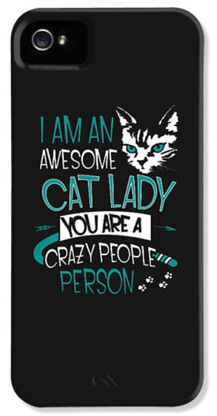 Cat Lady IPhone 5s Case by Jackie Robinson