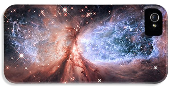 IPhone 5s Case featuring the photograph Celestial Snow Angel - Enhanced - Sharpless 2-106 by Adam Romanowicz