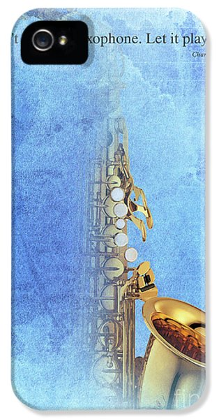 Charlie Parker Saxophone Vintage Poster And Quote, Gift For Musicians IPhone 5s Case by Pablo Franchi