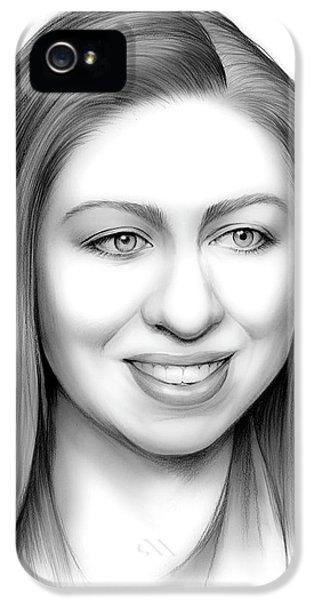 Chelsea Clinton IPhone 5s Case by Greg Joens