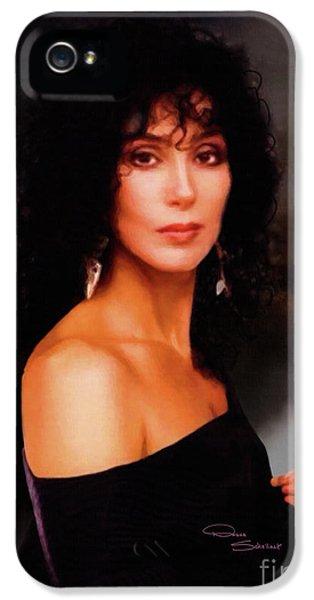 Sonny iPhone 5s Case - Cher 1980s by Donna Schellack