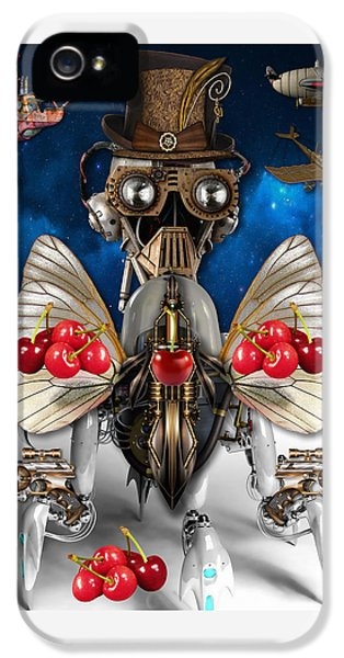 Cherry Robot 1 Art IPhone 5s Case by Marvin Blaine