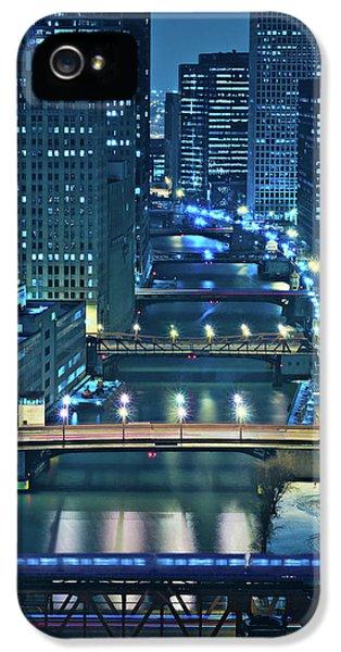 City Scenes iPhone 5s Case - Chicago Bridges by Steve Gadomski