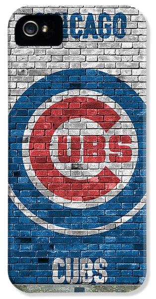 City Scenes iPhone 5s Case - Chicago Cubs Brick Wall by Joe Hamilton