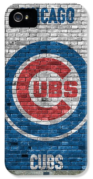 Chicago Cubs Brick Wall IPhone 5s Case by Joe Hamilton