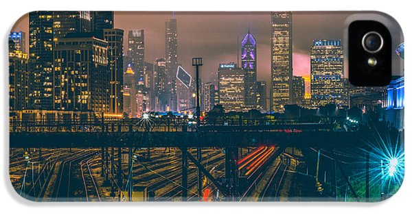 Chicago Night Skyline  IPhone 5s Case by Cory Dewald