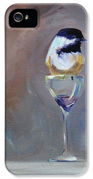 Chickadee Wine IPhone 5s Case by Nancy Merkle