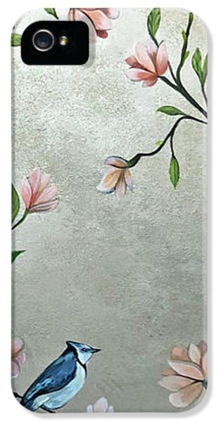 Humming Bird iPhone 5s Case - Chinoiserie - Magnolias And Birds by Shadia Derbyshire