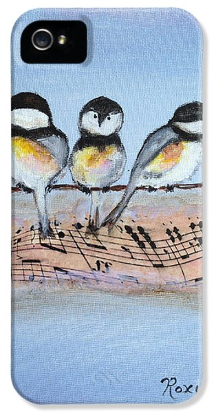 Chirpy Chickadees IPhone 5s Case by Roxy Rich