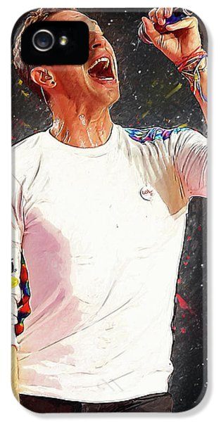 Chris Martin - Coldplay IPhone 5s Case by Semih Yurdabak