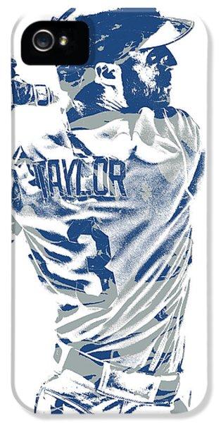 Los Angeles Dodgers iPhone 5s Case - Chris Taylor Los Angeles Dodgers Pixel Art 5 by Joe Hamilton