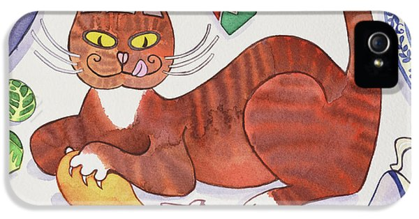 Christmas Cat And The Turkey IPhone 5s Case