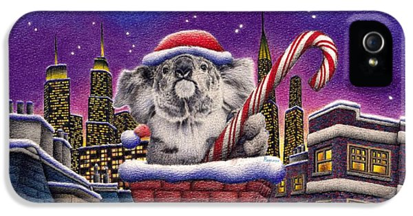 Christmas Koala In Chimney IPhone 5s Case