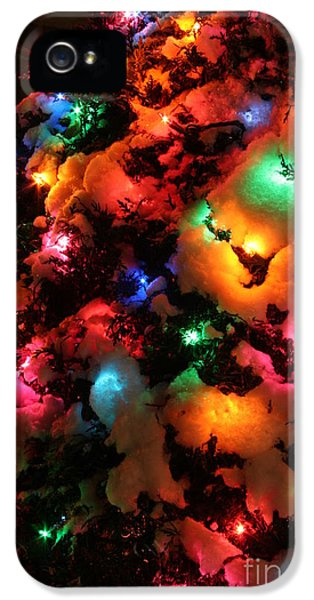 Christmas Lights Coldplay IPhone 5s Case by Wayne Moran
