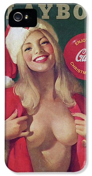 Elf iPhone 5s Case - Christmas Playboy Vintage Cover by Edward Fielding