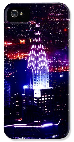 Chrysler Building At Night IPhone 5s Case by Az Jackson
