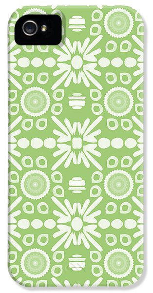 Repeat iPhone 5s Case - Cilantro- Green And White Art By Linda Woods by Linda Woods
