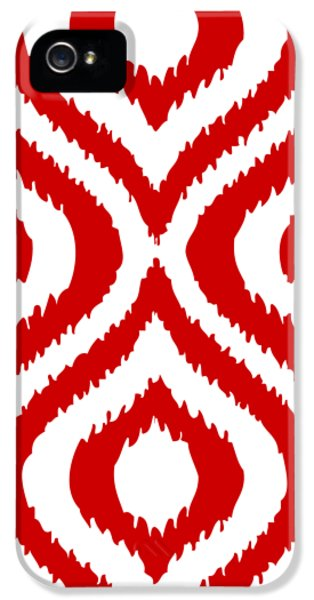 Circle And Oval Ikat In White T02-p0100 IPhone 5s Case by Custom Home Fashions