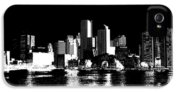 City Of Boston Skyline   IPhone 5s Case