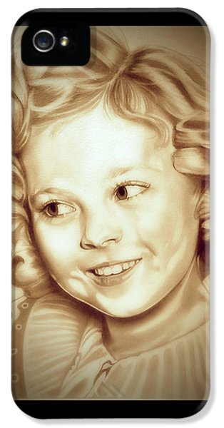 Classic Shirley Temple IPhone 5s Case by Fred Larucci