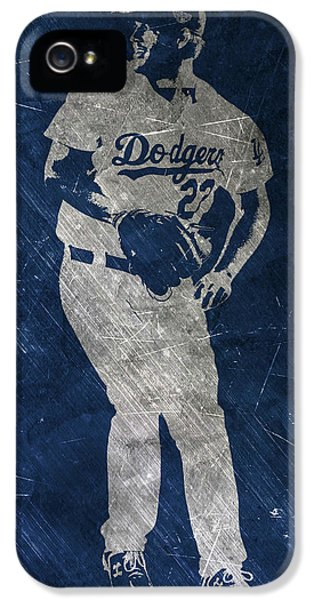 Los Angeles Dodgers iPhone 5s Case - Clayton Kershaw Los Angeles Dodgers Art by Joe Hamilton