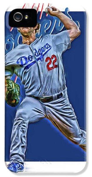 Los Angeles Dodgers iPhone 5s Case - Clayton Kershaw Los Angeles Dodgers Oil Art by Joe Hamilton