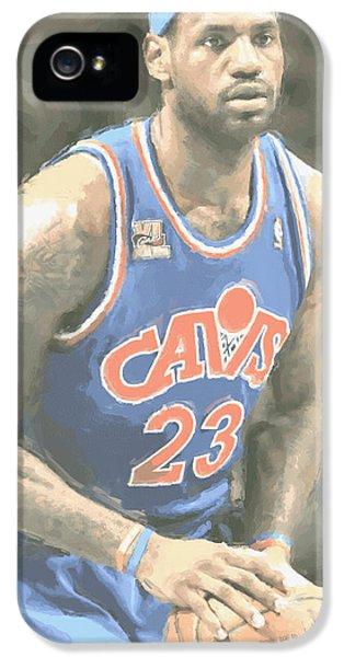 Cleveland Cavaliers Lebron James 1 IPhone 5s Case by Joe Hamilton