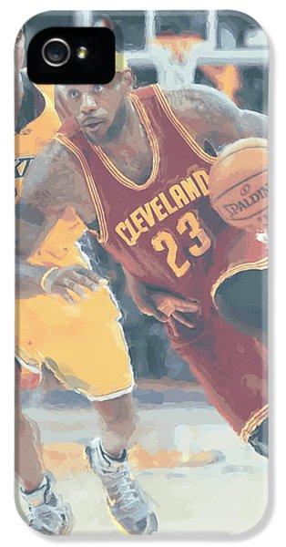 Cleveland Cavaliers Lebron James 3 IPhone 5s Case by Joe Hamilton