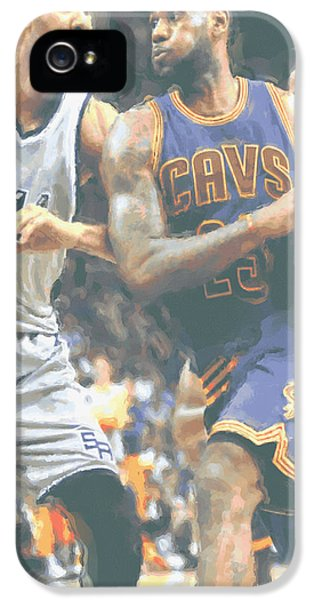 Cleveland Cavaliers Lebron James 4 IPhone 5s Case by Joe Hamilton