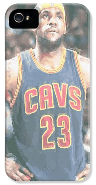 Cleveland Cavaliers Lebron James 5 IPhone 5s Case by Joe Hamilton