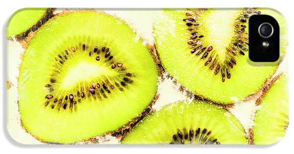 Close Up Of Kiwi Slices IPhone 5s Case by Jorgo Photography - Wall Art Gallery