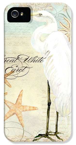 Coastal Waterways - Great White Egret 3 IPhone 5s Case by Audrey Jeanne Roberts