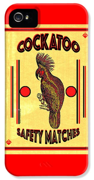 Cockatoo iPhone 5s Case - Cockatoo Safety Matches by Carol Leigh