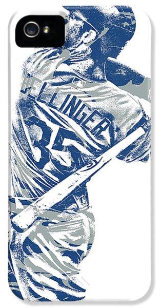 Los Angeles Dodgers iPhone 5s Case - Cody Bellinger Los Angeles Dodgers Pixel Art 10 by Joe Hamilton